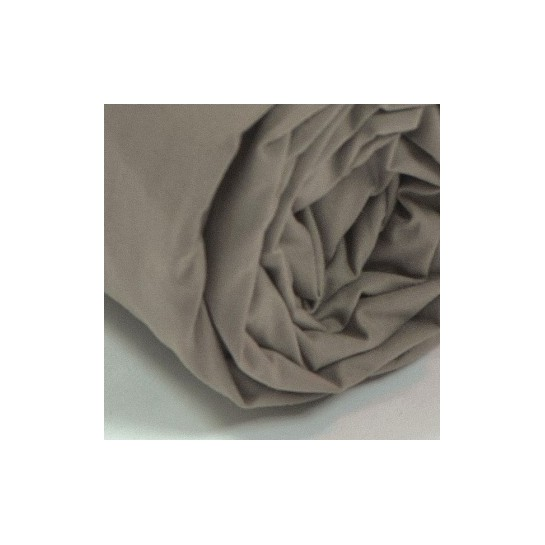 Drap housse percale Taupe