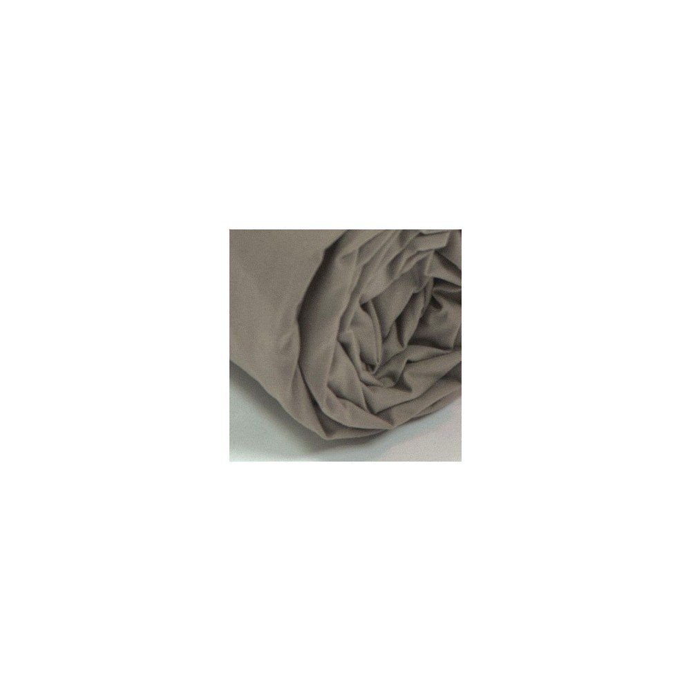 Drap housse uni percale taupe for Draps housse percale