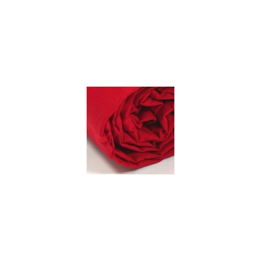Drap housse uni percale rouge for Drap housse solde