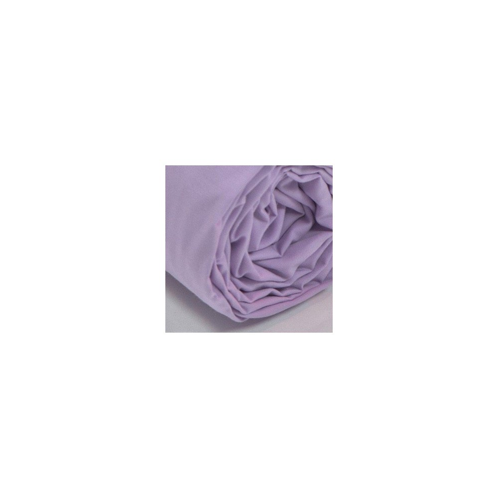 Drap housse uni percale parme for Draps housse percale