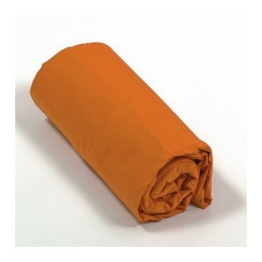 Drap housse percale Orange