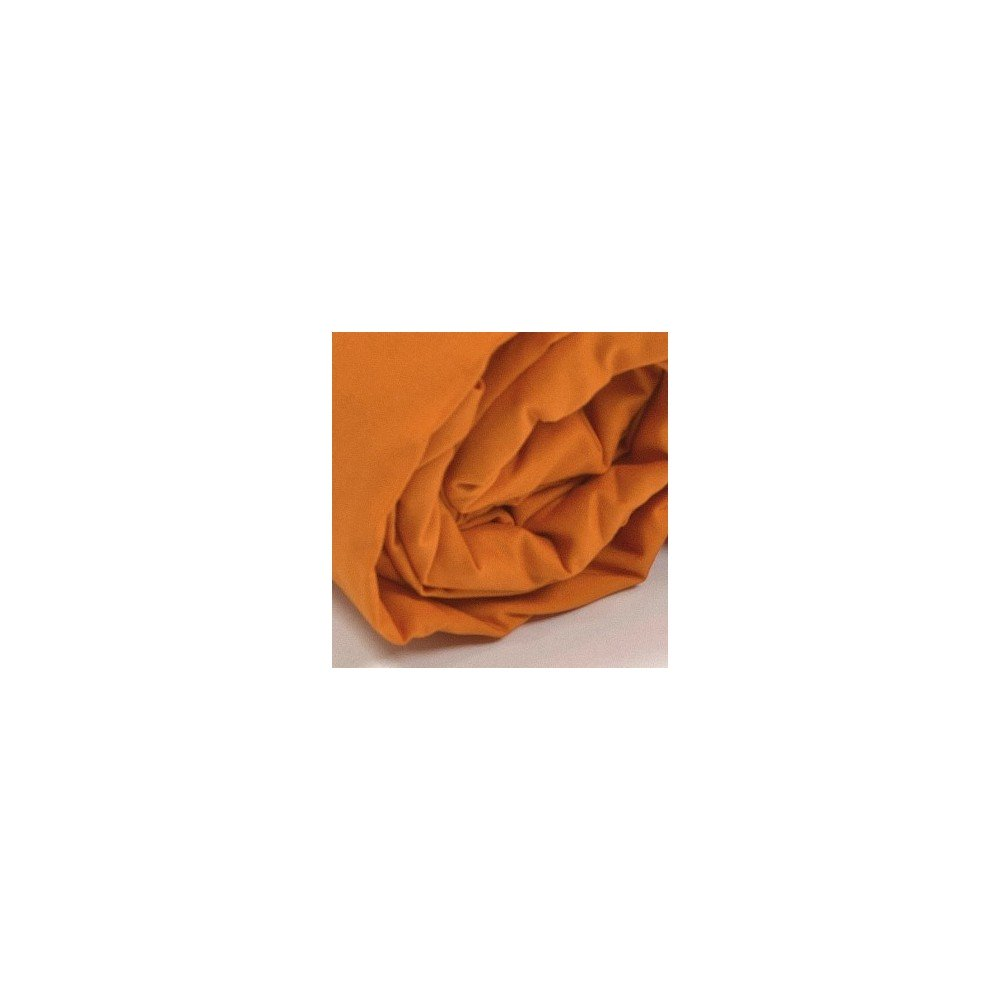 Drap housse uni percale orange for Drap housse uni percale