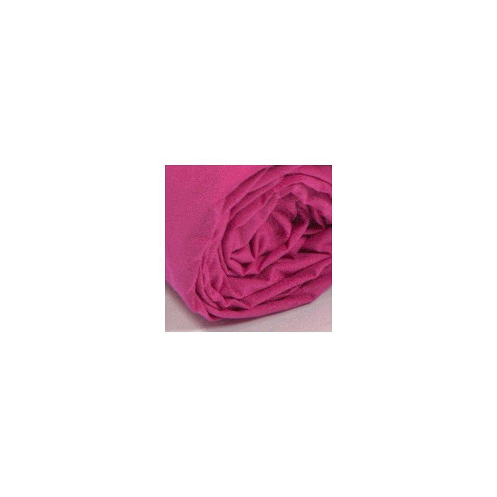 Drap housse uni percale fuchsia for Draps housse percale