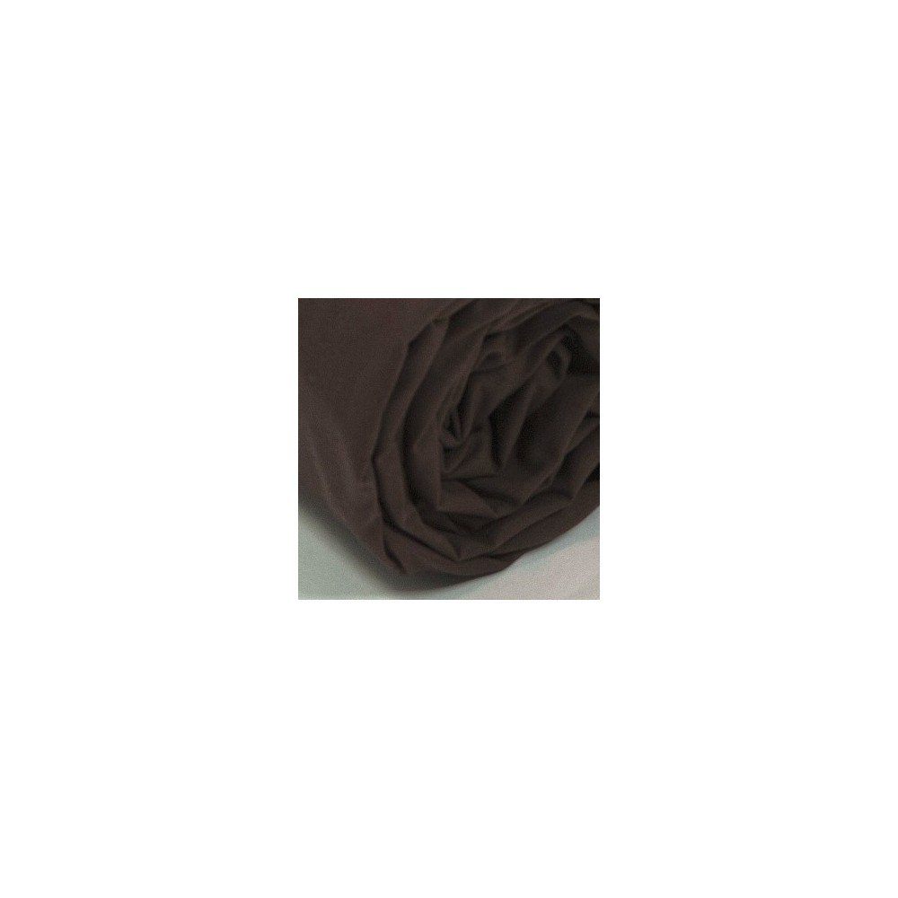 Drap housse uni percale chocolat for Draps housse percale