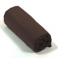 Drap housse percale Chocolat