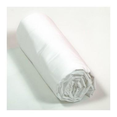 Drap housse percale Blanc