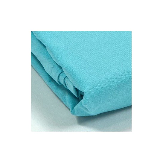Drap plat percale Turquoise