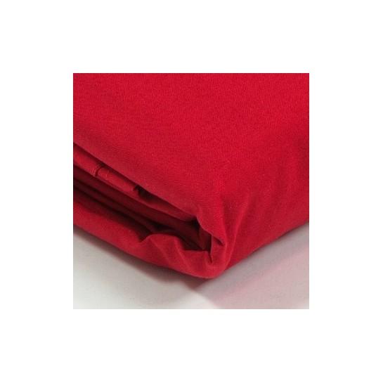 Drap plat percale Rouge