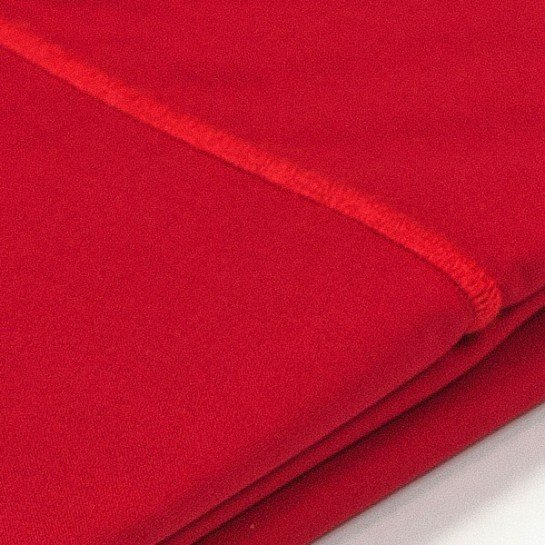 Taie d'oreiller percale Rouge