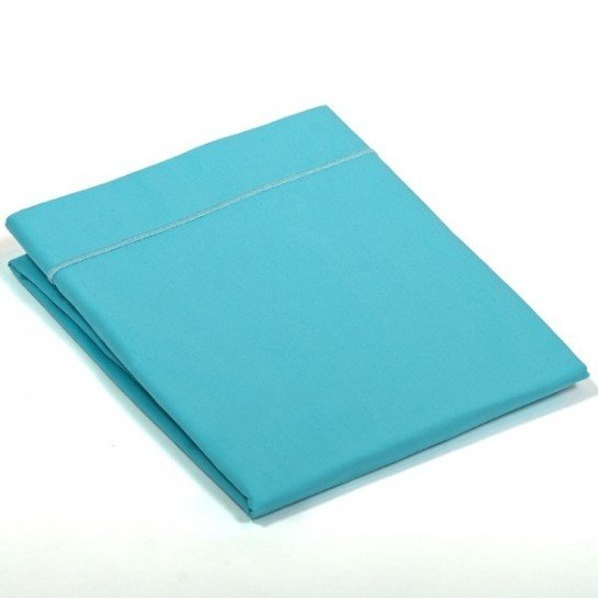 Taie de traversin percale Turquoise