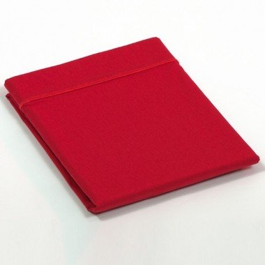 Taie de traversin percale Rouge