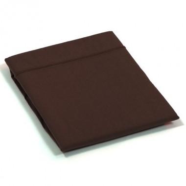 Taie de traversin percale Chocolat