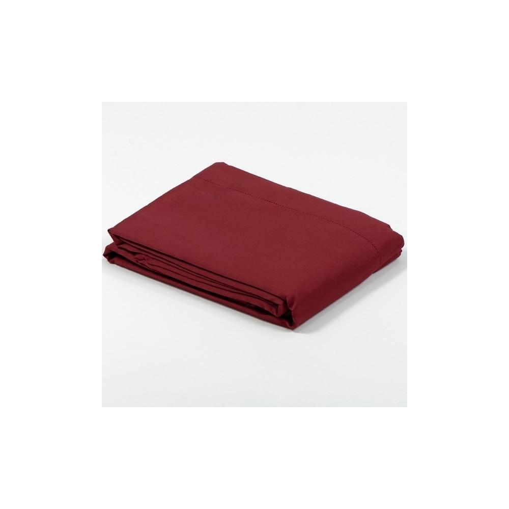 drap plat satin de coton bordeaux. Black Bedroom Furniture Sets. Home Design Ideas