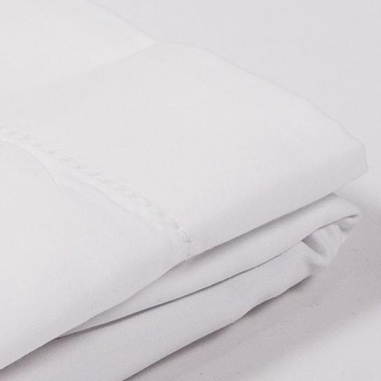 Taie d'oreiller satin de coton Blanc