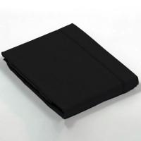 Drap plat percale Noir