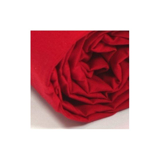 Drap housse percale Rouge