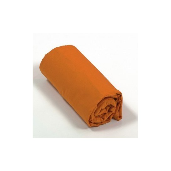 Drap housse percale Orange