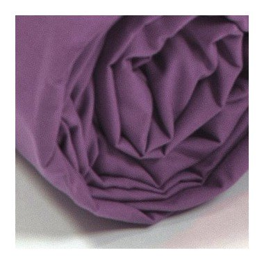Drap housse percale Lie de vin