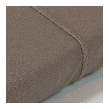 Drap plat percale Taupe