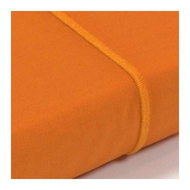 Drap plat percale Orange