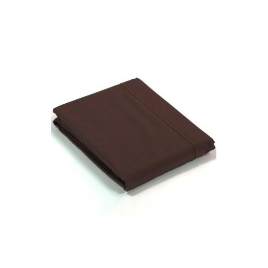 Drap plat percale Chocolat