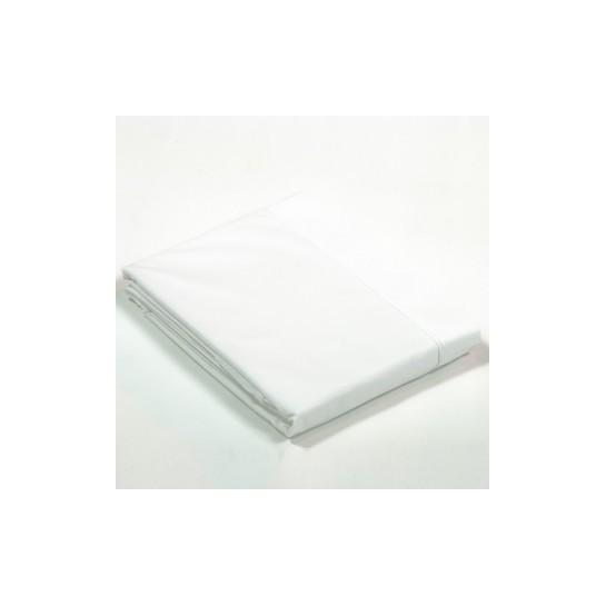 Drap plat percale Blanc