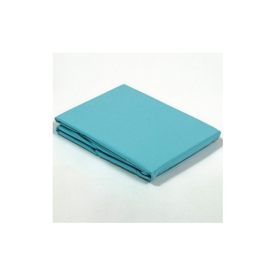 Housse de couette percale Turquoise