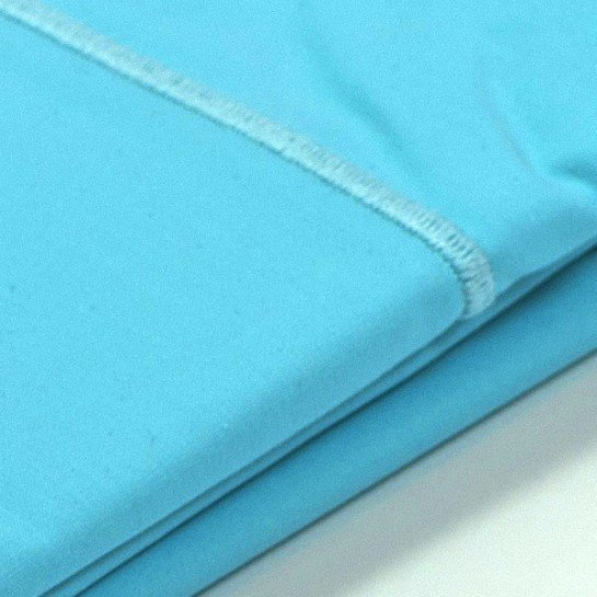 Taie d'oreiller percale Turquoise