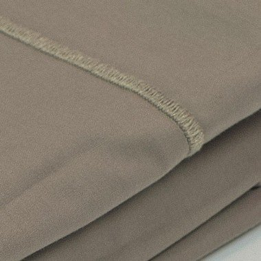 Taie d'oreiller percale Taupe
