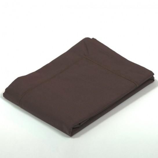 Taie d'oreiller percale Chocolat