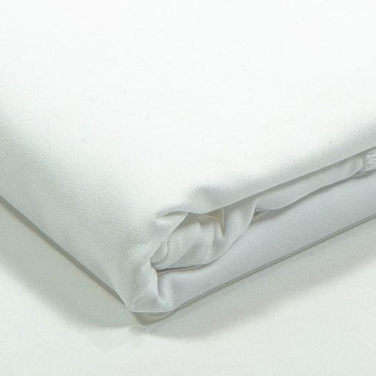 Taie d'oreiller percale Blanc