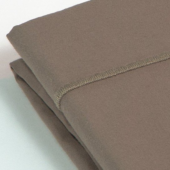 Taie de traversin percale Taupe