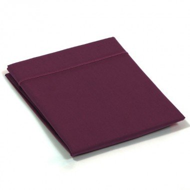 Taie de traversin percale Prune