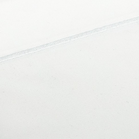 Taie de traversin percale Blanc