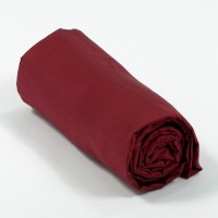 Drap housse satin de coton Bordeaux