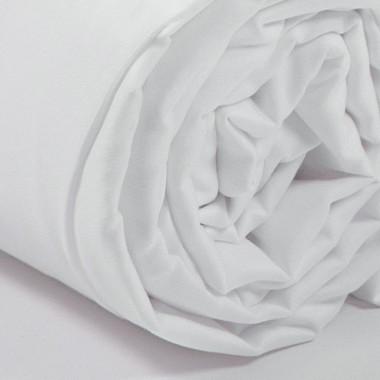 Drap housse satin de coton Blanc
