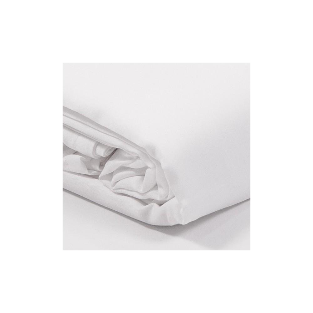 drap plat satin de coton blanc. Black Bedroom Furniture Sets. Home Design Ideas